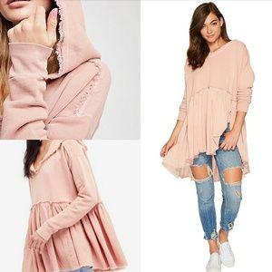 Free People Mauve Pink Summer Sweatshirt